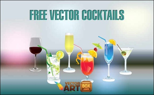 free-vector-coctails