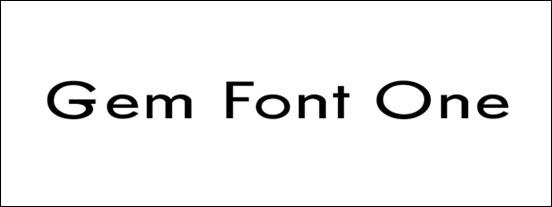 gem-font-one