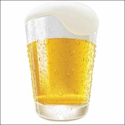 lifelike-beer-glass-vector