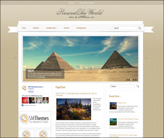 roundtheworld is an elegant WordPress theme perfect for travel websites.