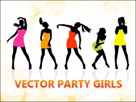 vector-party-girls