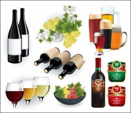 wine-and-beer-vectors