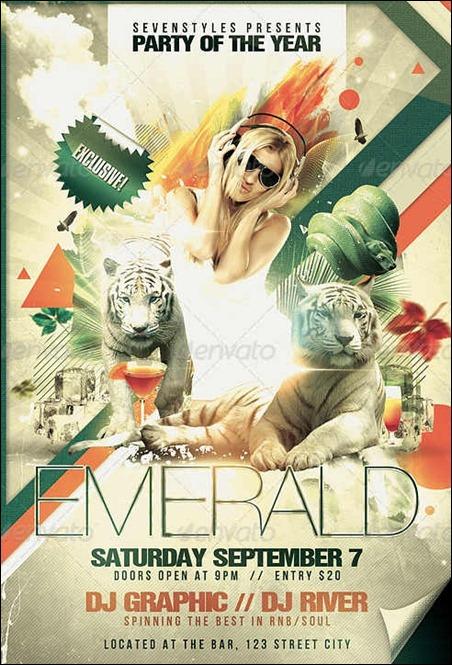 emerald-flyer-template