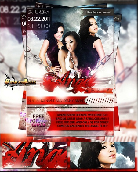 free-psd-angel-party-flyer