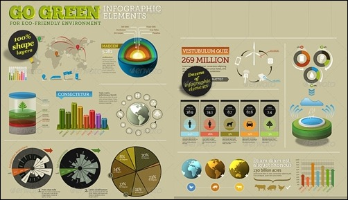 go-green-infographic-elements-info-template