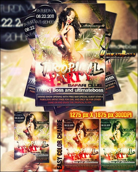 premium-tropical-party-flyer