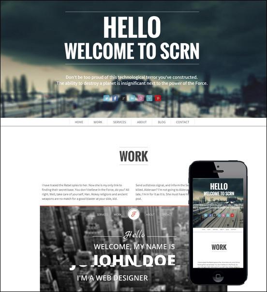 SCRN – Responsive single page portfolio