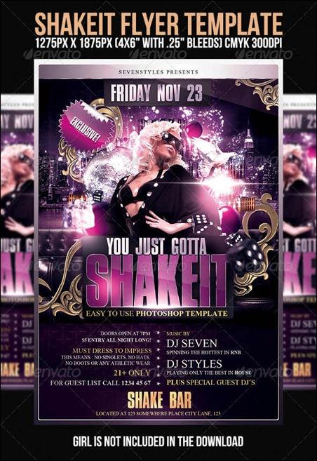 shake-it-flyer-template