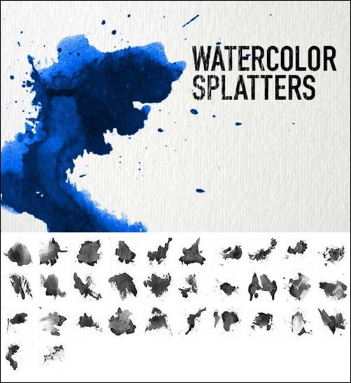 watercolor-splatters