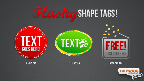 Freebie Friday – Flashy Shape Tags