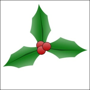 Christmas-holly-tutorial