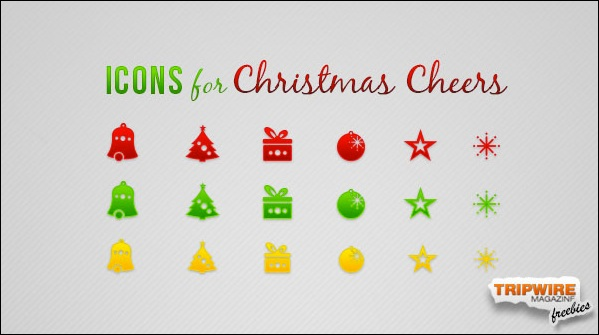Freebie Friday – Cheerful Christmas Icons