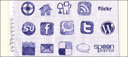 Handdrawn Icon Set