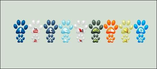 Social Paw Icons