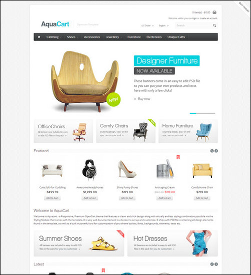 Opencart templates free download.