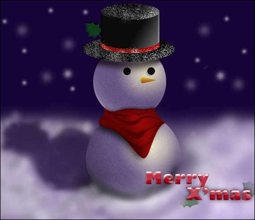 awesome-snowman-in-photoshop