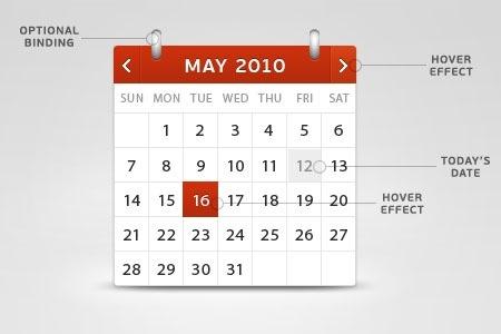 30 Inspiring Free Calendar And Date Picker Psd Designs Tripwire