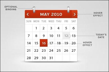 calendar-psd-design