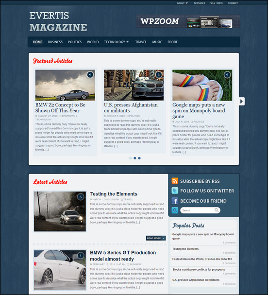 evertis WordPress Haber ve Portal Temaları