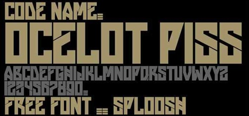 ocelot-peace-font