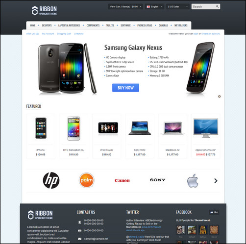 ribbon-opencart-theme