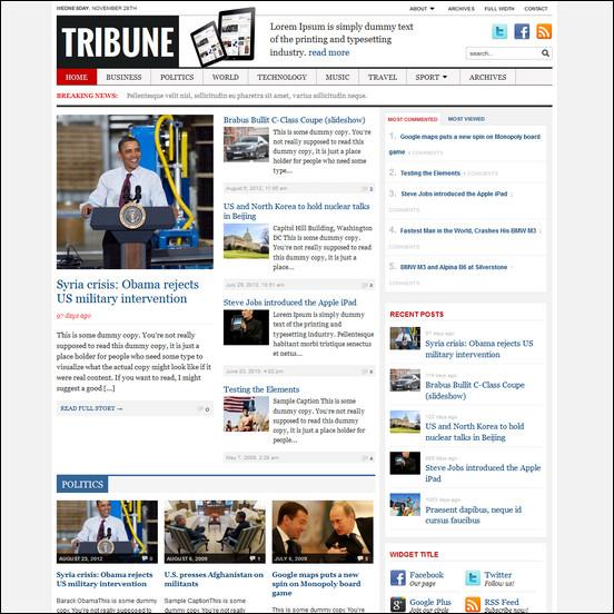 tribune WordPress Haber ve Portal Temaları