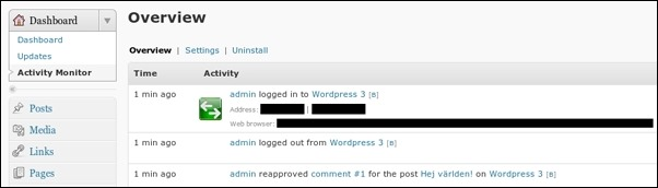 wordpress-audit-trail