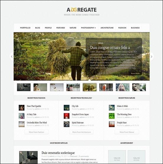 Aggregate wp theme WordPress Haber ve Portal Temaları