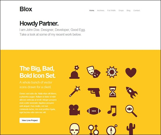 Blox: Bold WordPress Minimal Theme
