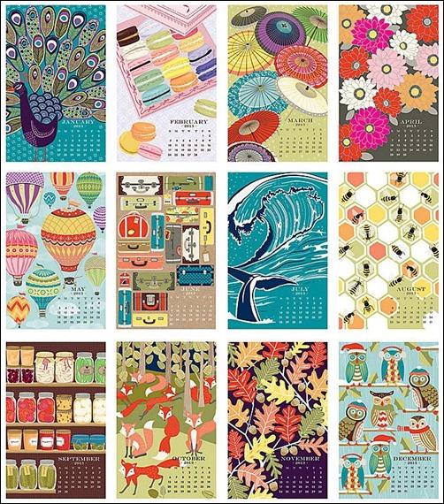 2013 Paper Source Wall Art Calendar