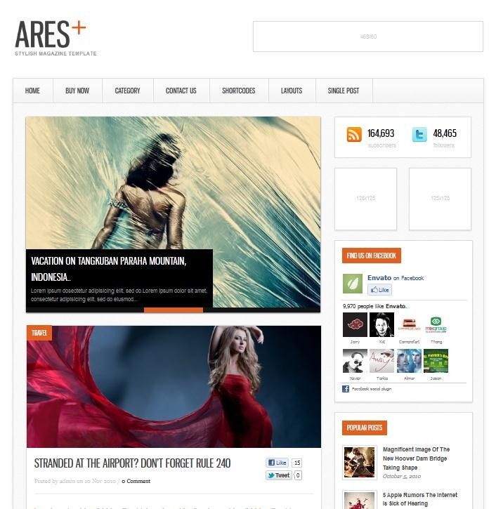 ARES – Blog Magazine Minimal Template