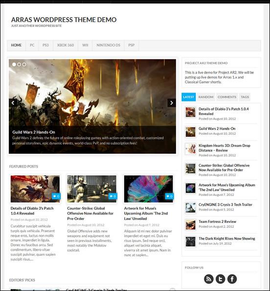 arrastheme2 WordPress Haber ve Portal Temaları