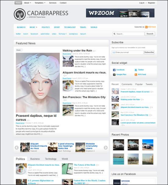 cadabrapress WordPress Haber ve Portal Temaları