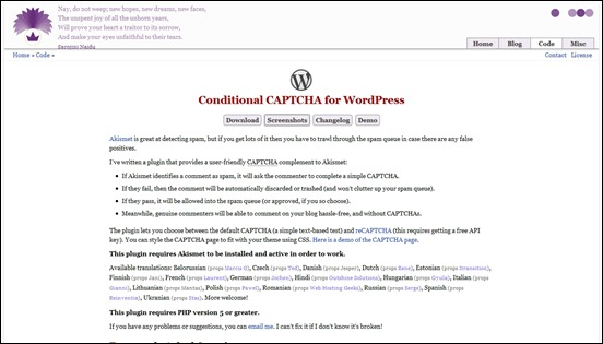 conditional-captcha-for-wordpress