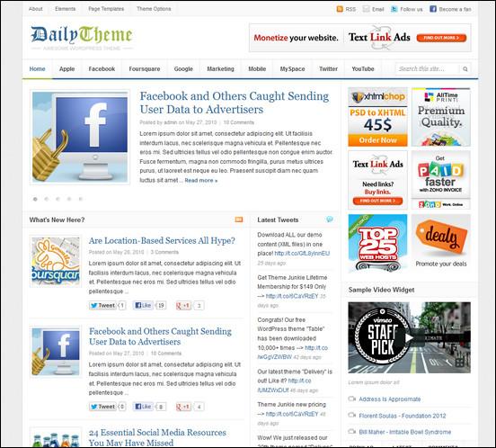 daily theme WordPress Haber ve Portal Temaları