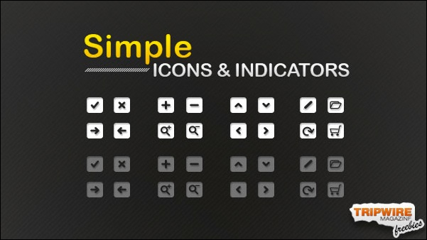 Freebie – Set Of Simple Icons & Indicators