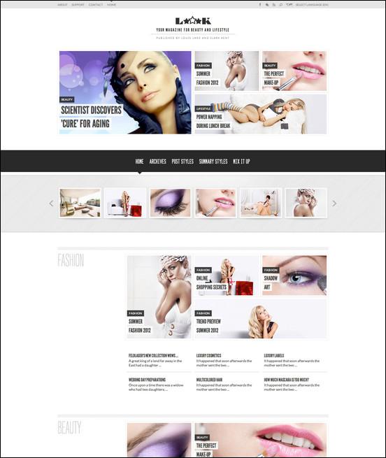 loook responsive magazine or blog WordPress Haber ve Portal Temaları
