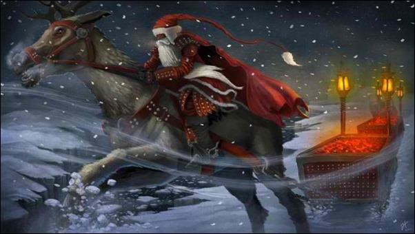 medieval-santa-sleigh