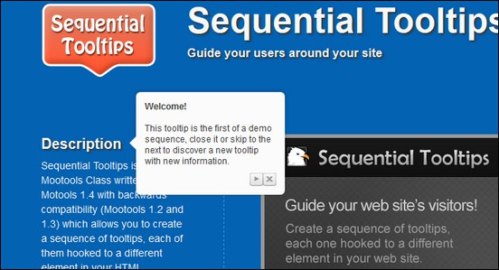 Sequential Tooltips