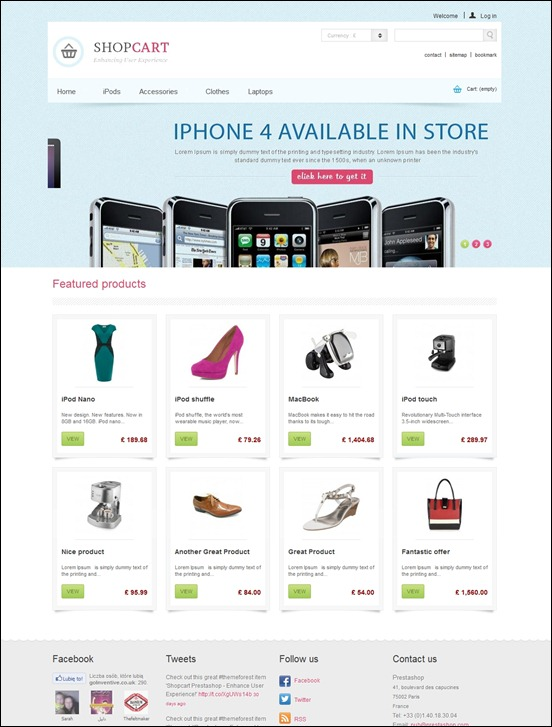 shopcart-prestashop