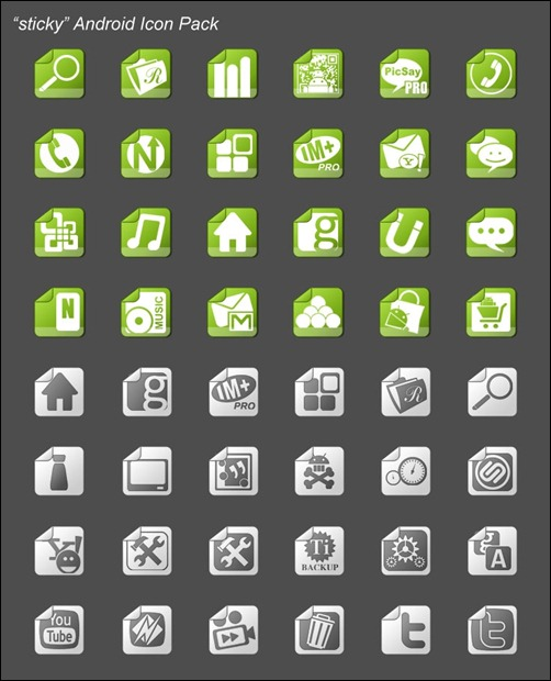 sticky-android-icon-pack