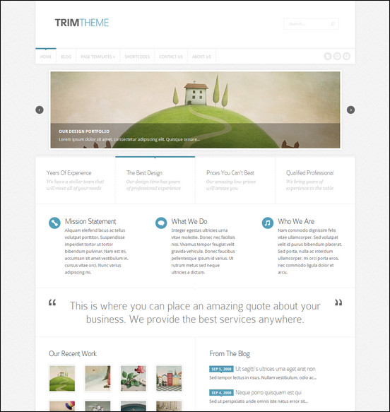 TRIM Minimal Responsive theme for WordPress