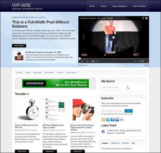 wp aire1 WordPress Haber ve Portal Temaları