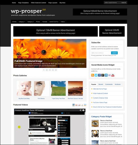 wp prosper WordPress Haber ve Portal Temaları