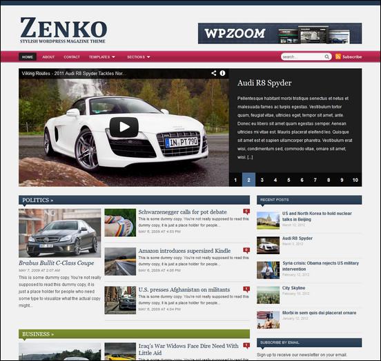 zenko WordPress Haber ve Portal Temaları