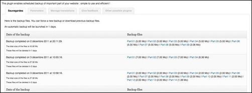 Backup Scheduler wordpress plugin
