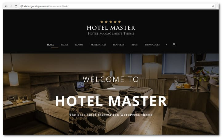 Hotel WordPress Theme Hotel Master