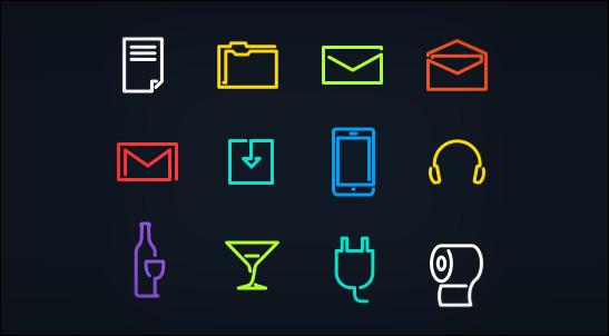 Neon-Glyph-Icons