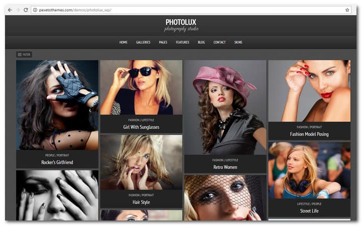 Photolux - Photography Portfolio WordPress Theme
