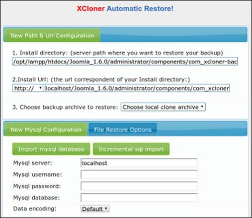 XCloner –Backup and Restore wordpress backup plugin